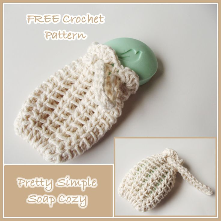 Pretty Simple Soap Cozy ~ FREE Crochet Pattern. Consider packing this + a bar of soap for some shoebox hygiene items!