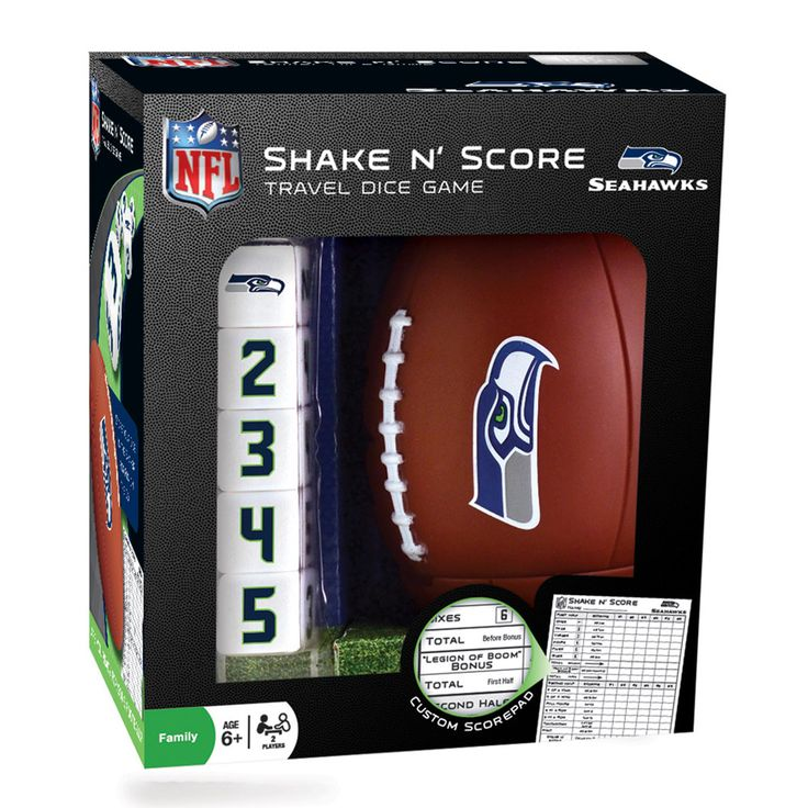 Seattle Seahawks Shake 'n Score Travel Dice Game