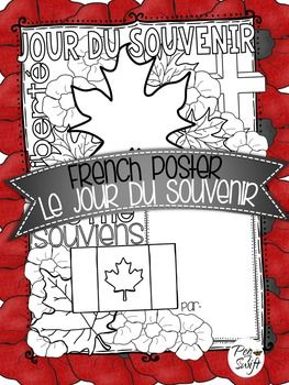 Remembrance Day French poster - Le Jour du Souvenir. Mark this important occasion by having your students reflect upon this special day.Le Jour du Souvenir ~ French Poster.