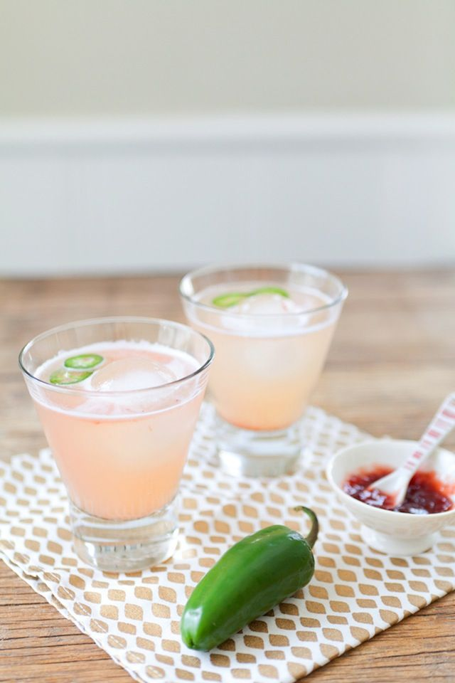 Spicy Strawberry Margaritas