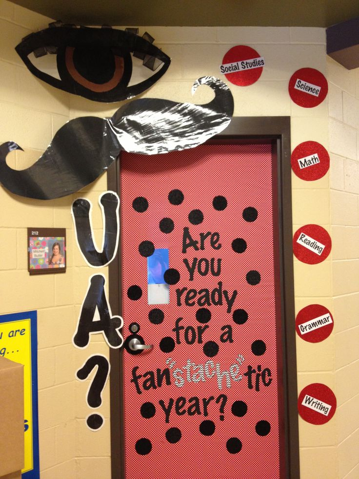 Mustache Classroom Decor ~ Best images about classroom doors on pinterest fall