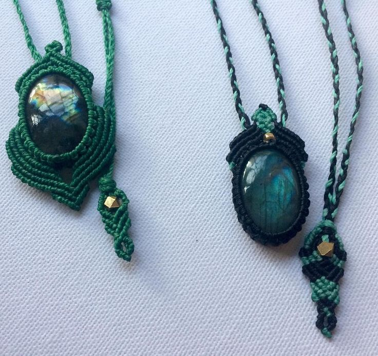 """57 Likes, 3 Comments - Nomade Macrame (@nomade.macrame) on Instagram: """"These two powerful labradorite talismans are on their way to France! 💌📿💎🛫♥️👋Bon voyage!! May you…"""""""