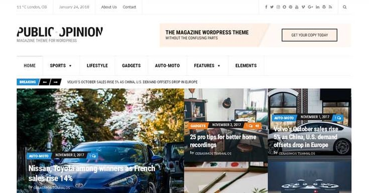 Public Opinion is a WordPress magazine theme designed to provide a flexible solution for every publishers in their publishing need.