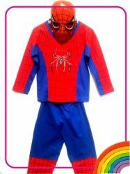 DN01   Kostum Spiderman topeng plastik  large