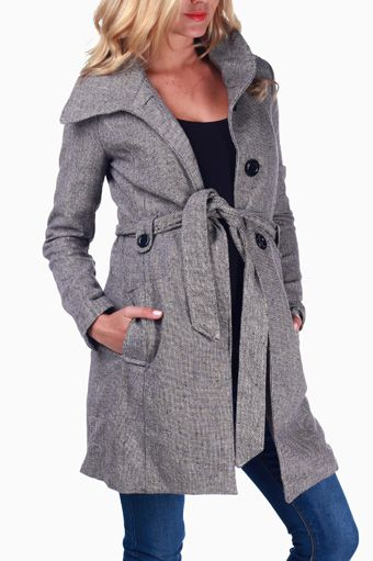 Maternity Coat - Very cute! Mine definitely won't fit come winter!! | Pink Blush Maternity