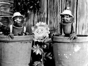 "My mum hated me watching ""The Flowerpot Men"" -  Bill and Ben with Weed."