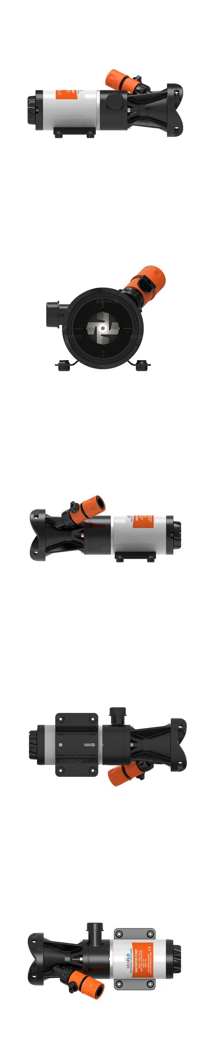 Sewage Pump SEAFLO 24V Sump Effluent 12 GPM 45 LPM Waste Water Dewatering Pumps for Marine RV Caravan Toilet