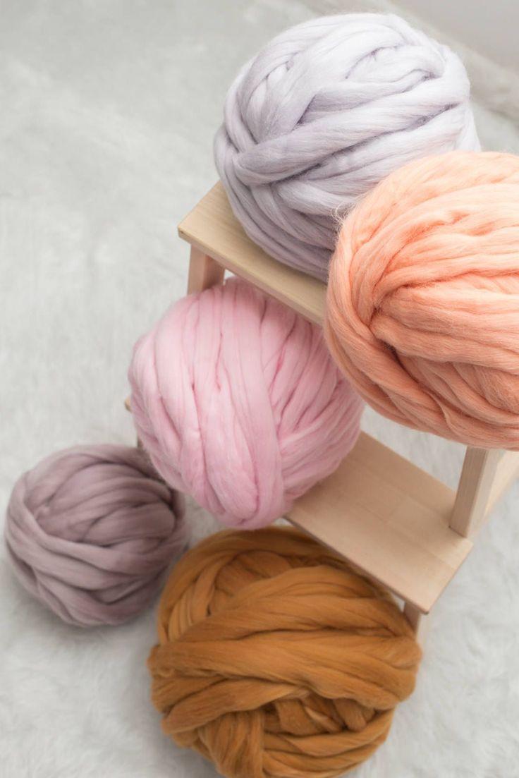 Merino wool, Chunky knit yarn, Arm knitting yarn, Chunky knit wool, Giant yarn, Jumbo wool, #100%merinowoolyarn #Arm #…