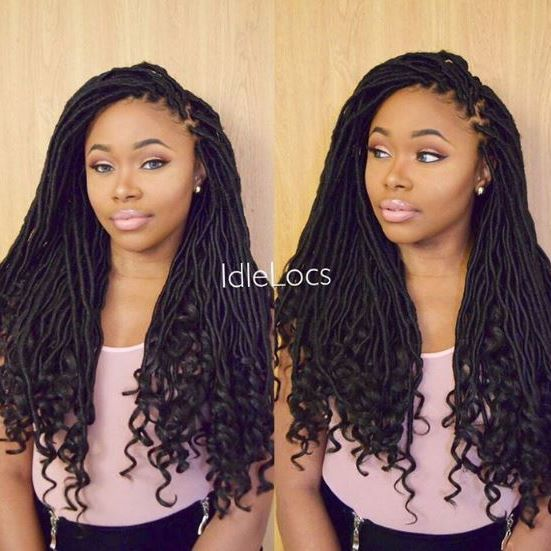 """#repost @idlelocs  @yanimilan Back in Stock in LIMITED QUANTITY!!! FreeTress Synthetic Hair Crochet Braids Goddess Loc 18"""" by @milkyway_hair Available @ samsbeauty.com  @love_samsbeauty #love_samsbeauty #braids #crochetbraids #curlyhair #style #protectivestyles #naturalhair #blackgirlmagic #hairinspiration #beauty #trend #instahair #snäpchat #chicago"""