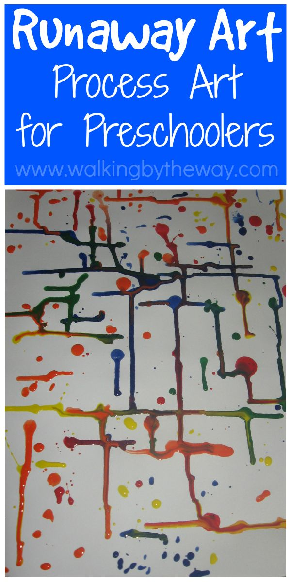 Runaway art preschool process art activity from walking by for Books with art projects