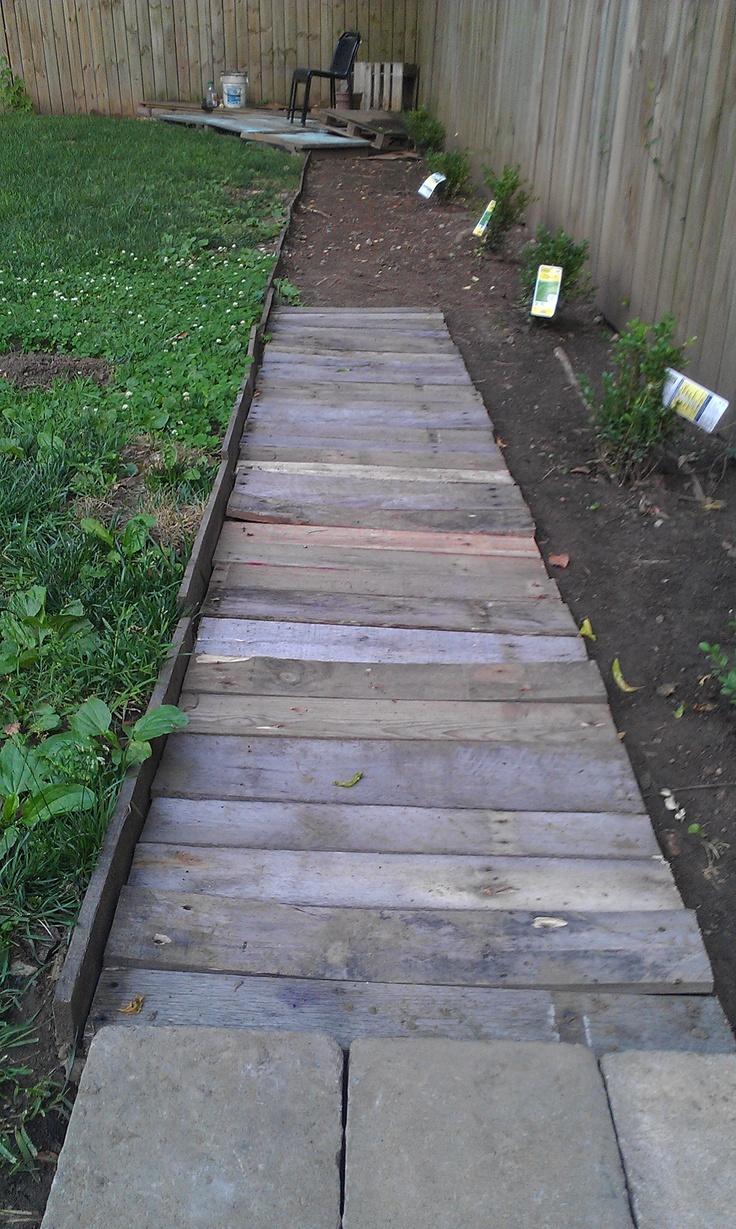 Pallet Pathway Incomplete 2ft Wide Landscape Barrier