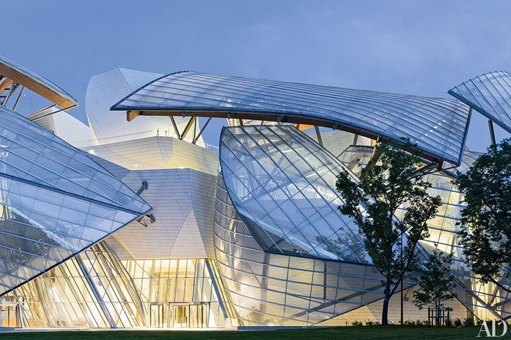 The nautically inspired Fondation Louis Vuitton arts center, devised by Gehry Partners for LVMH, opens in Paris's Bois de Boulogne park October 27