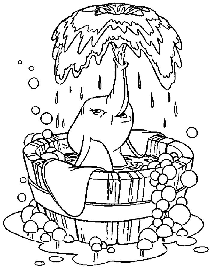 baby disney coloring pages dumbo - photo#32
