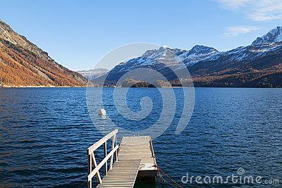 Lake in engadin in switzerland