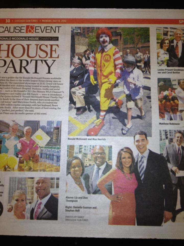 NBC 5's very own Daniella Guzman and Stefan Holt made it onto today's Sun Times!