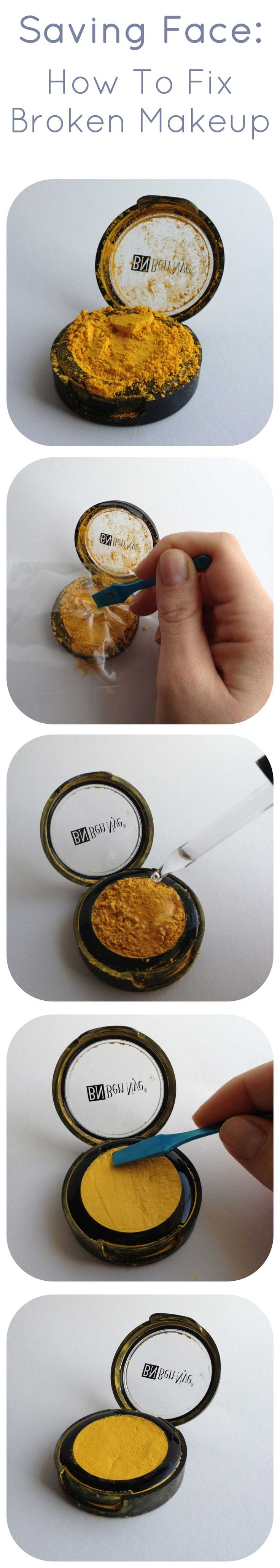 How to fix broken powder makeup with alcohol in four simple steps - Best 25 Fixing Broken Powder Ideas On Pinterest Fix Broken Compact Broken Eyeshadow And Fix Broken Makeup