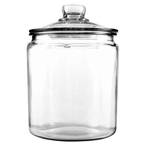 Half gallon anchor heritage jar at target for $5.99, 1 gallon available at target/ bathbed - anchor hocking - $9.99