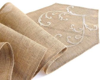 Burlap table runner rustic table runner summer rustic decor