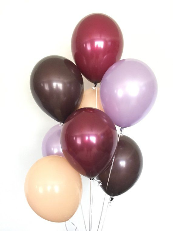 Blush And Burgundy Balloons Fall Wedding Decor Brown And Etsy Lavender Balloons Baby Shower Fall Fall Wedding Decorations