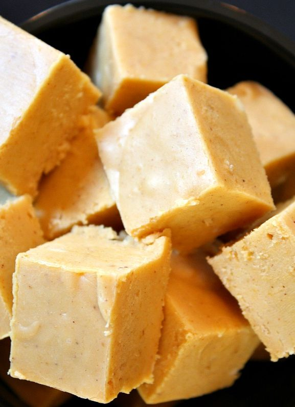 Pumpkin Fudge #recipe #fall | RecipeGirl.com
