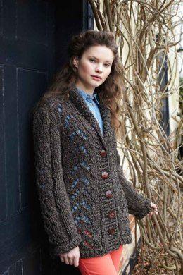 Lace Jacket Free Knitting Pattern