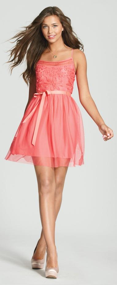 Floral Applique Dress