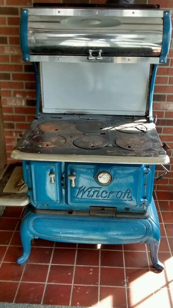 1918 Wincroft Wood/Coal Cook Stove..Blue enamel VERY GOOD ...