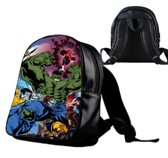 Hulk Vs Xmen  Backpack/Schoolbags for kids. by Wonderfunny on Etsy #Minecraft #backpack #schoolbags #gift #birthday
