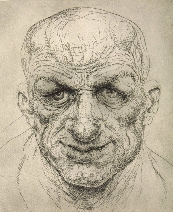 Peter Howson - Stratford, Etching (1998)