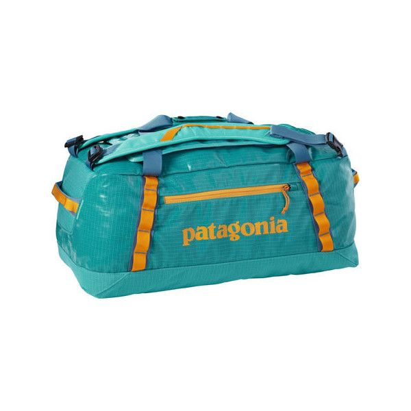 Patagonia Black Hole Duffel 60L 49341 - Howling Turquoise (185 NZD) ❤ liked on Polyvore featuring bags and luggage