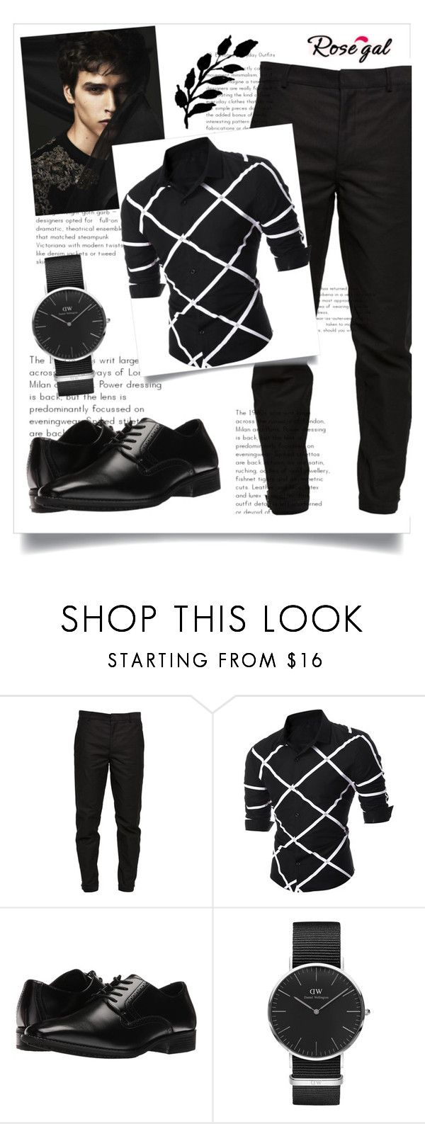 """""""Long Sleeve Shirts for Men"""" by arijanagetos55 ❤ liked on Polyvore featuring Maison Margiela, Folio, Stacy Adams, Daniel Wellington, men's fashion and menswear"""