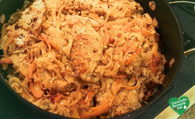 Pute-Sauerkraut, low carb Diät rezept