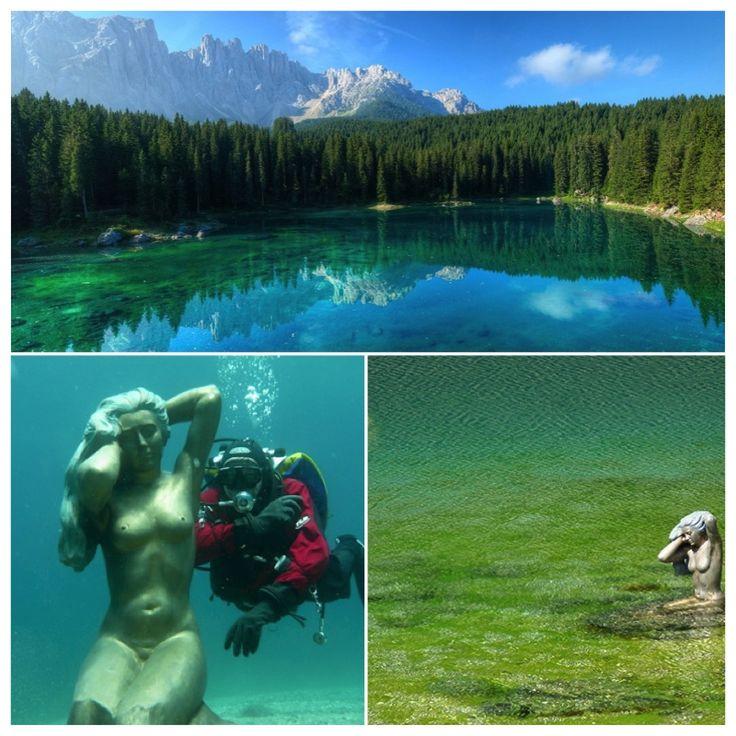A ninfa Ondina do lago de Carezza!  #dolomitas #roteiros #viajar #italia