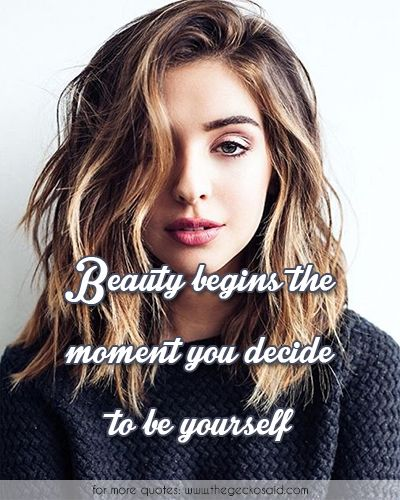 Beauty begins the moment you decide to be yourself.  #beauty #begins #decide #girl #moment #quotes #yourself