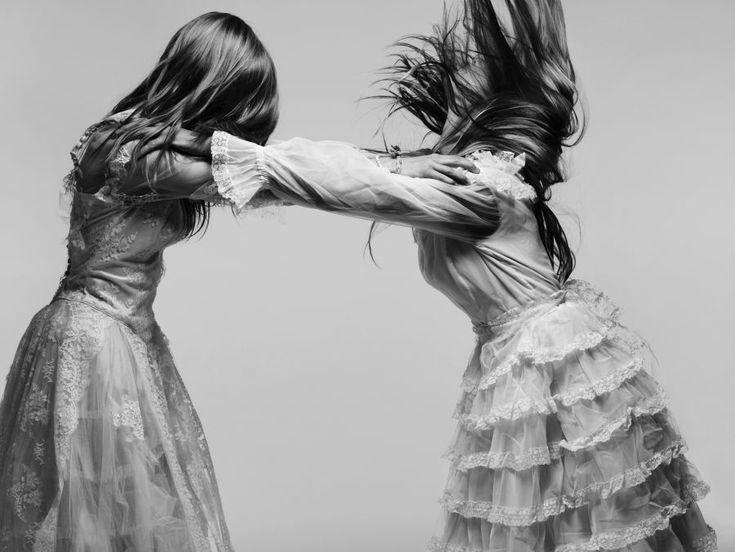 Картинки по запросу girls fighting black and white