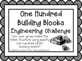 100 Building Blocks: Engineering Challenge Project ~ Great STEM Activity! Can your group make the tallest tower using exactly 100 building blocks? $