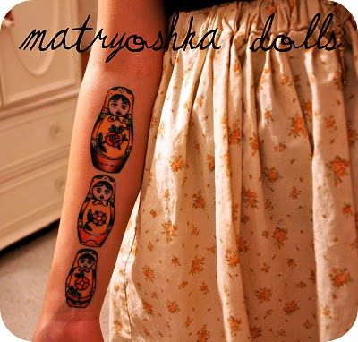 #matryoshka_tattoo, she says stand for security & family