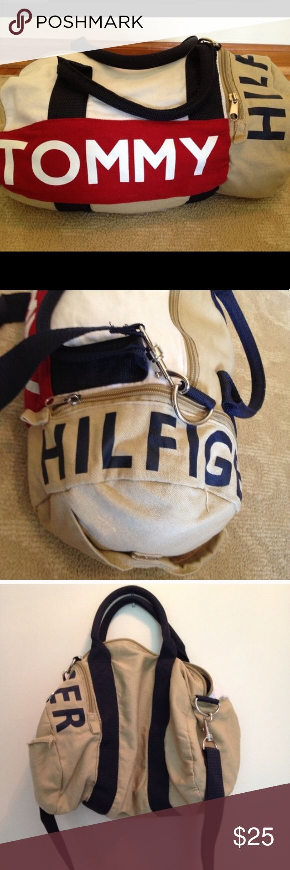 Tommy Hilfiger Duffle bag / gym bag Can be used as a small overnight bag or a gym bag Tommy Hilfiger Bags Travel Bags