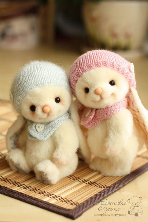 Люси и Лили - бежевый, зайка, зайчик, зайцы, зайка девочка, зайка тедди, зайчики, handmade toys