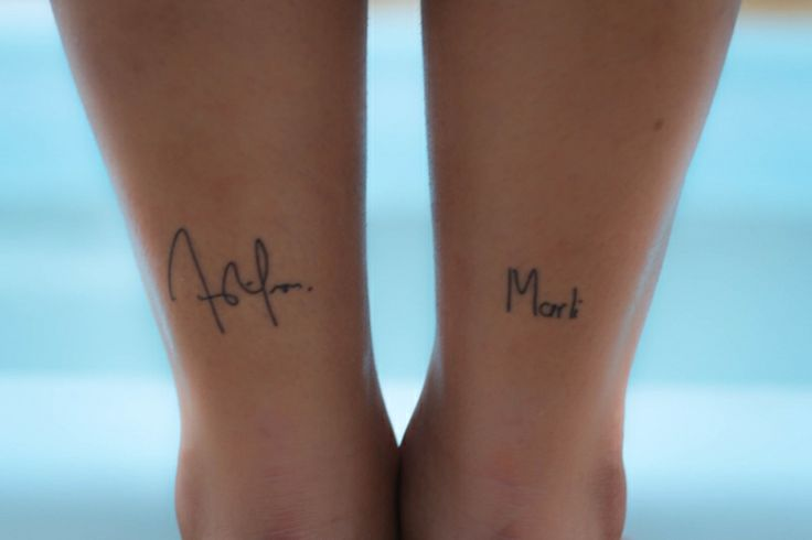 Signature Tattoos -  Father and Mother