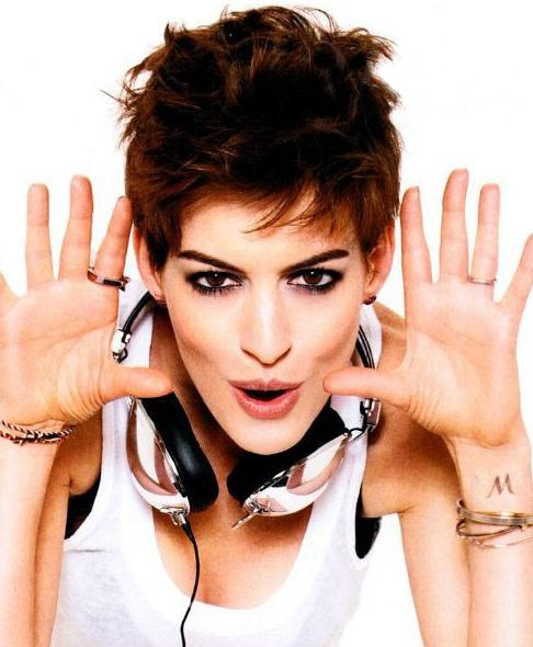 2013 New Arrival Chic Anne Hathaway Short Hairstyle