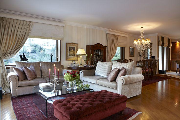 private house / living room  /  Voula  Greece  /  interior designer Sissy Raptopoupou