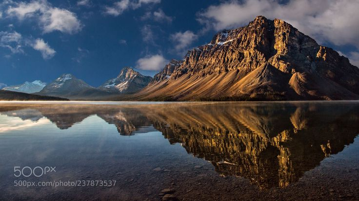 The Canadian Rockies Series: Bow Lake (Perry Hoag / Nashville / USA) #Canon EOS 5D Mark III #landscape #photo #nature