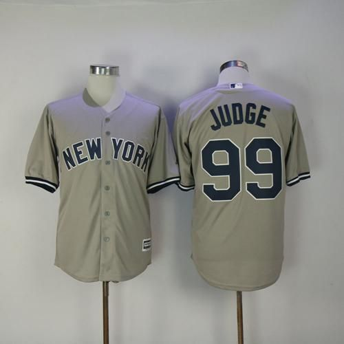 premium selection 2a83d a7266 Yankees #99 Aaron Judge Grey New Cool Base Stitched MLB ...
