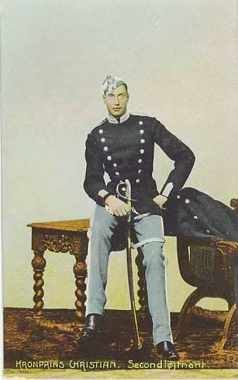 Young Prince Christian X  as a second liutenant  in the Royal Danish Guards - 1900