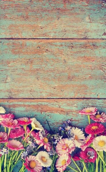 flowers on beautiful distressed wood board