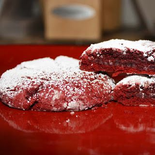 Red Velvet Cake Batter Cookies! Cook less time for chewy cookies...I made these and they are Yummo!