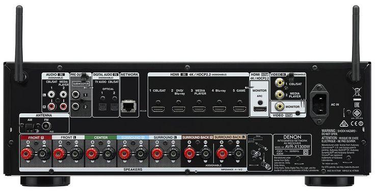 Denon AVRX1300WBKE2 7.2-Kanal AV-Receiver (Dolby Atmos, dtsX, WLAN, Bluetooth, Spotify Connect, 5 Plus 1 HDMI 3D, 4K, HDCP 2.2, 7x 145 Watt) schwarz: Amazon.de: Audio & HiFi