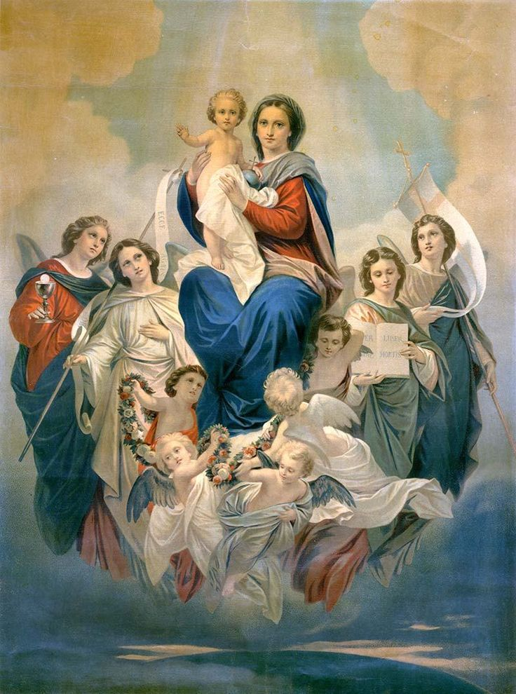 Famous Blessed Virgin Mary Roman Catholic Paintings