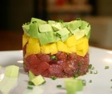 Ahi Tartare with Mango Recipe from AvocadoCentral.com - Wedding Appetizers
